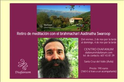 retiro brahmachari Aadinatha Swaroop
